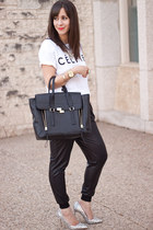 white celfie Sincerely Jules t-shirt - black pashli 31 Phillip Lim bag