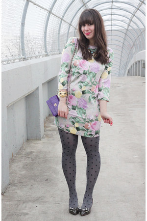 light pink H&M dress - heather gray joe fresh style tights