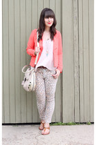 leopard print joes jeans - coral Forever 21 blazer