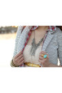 Light-pink-h-m-dress-white-striped-h-m-blazer-red-plaid-boyfriend-tna-shirt