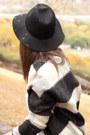 Black-suede-shoemint-boots-black-plaid-wool-maison-scotch-coat