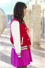 Red-varsity-forever-21-jacket-amethyst-forever-21-dress-red-stylemint-pumps