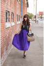 Forever-21-bag-black-bcbg-heels-deep-purple-vintage-skirt-black-forever-21