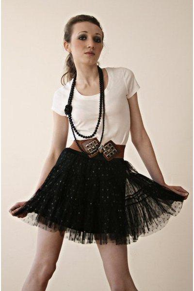 black Miss Selfridges skirt - white next shirt