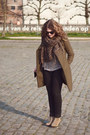 Light-brown-suede-ankle-mango-boots-army-green-studded-zara-coat
