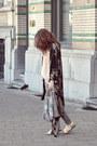 Gray-zara-jeans-beige-jacquard-zara-scarf-light-pink-camisole-h-m-top