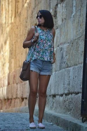 OASAP shirt - Stradivarius bag - H&M shorts
