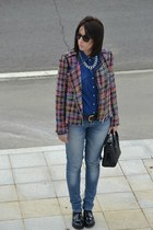 Front Row Shop jacket - Zara shoes - Stradivarius shirt