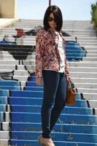 Zara jeans - Oasapcom jacket - Stradivarius bag