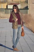Stradivarius vest - suiteblanco shoes - suiteblanco sweater - Zara shirt