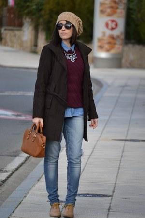 suiteblanco sweater - suiteblanco shoes - dark brown Zara coat