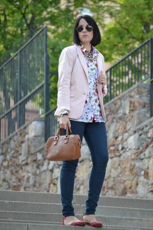 Zara shirt - pull&bear blazer - Zara sandals - Zara pants