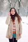 Vintage-coat-denim-romwe-shorts