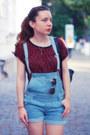 Sky-blue-amiclubwear-romper-maroon-bershka-top