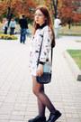 White-persunmall-shirt-black-debenhams-bag