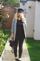 black asos hat - heather gray Miss Selfridge blazer