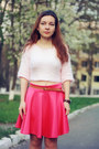 Hot-pink-miss-luxe-skirt-light-pink-miss-luxe-jumper-black-choies-heels