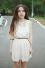 Cream-oasap-dress-burnt-orange-mango-boots-dark-gray-oasap-necklace