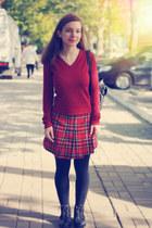 black Swear boots - brick red Vero Moda sweater