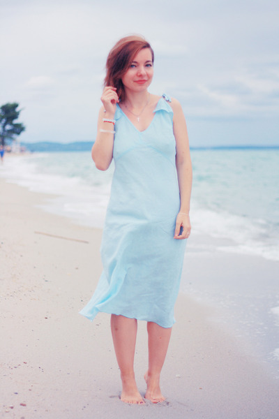 light blue united colors of benetton dress