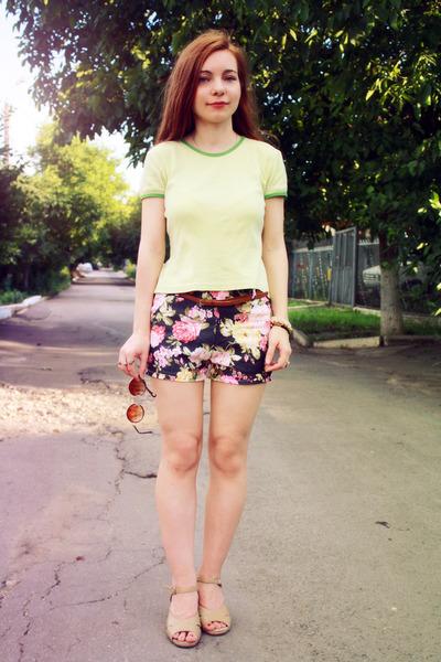 light purple sammydress shorts - tawny romwe sunglasses