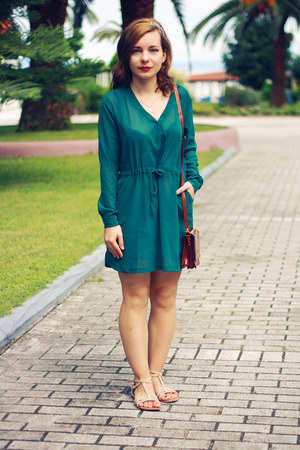 green DressLink dress - tawny Maxwell Scott bag