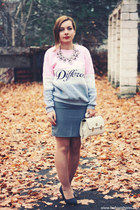light pink DealSale sweatshirt - heather gray DealSale skirt