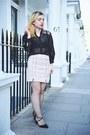Cream-suede-light-in-the-box-skirt-black-asos-heels