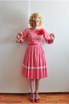 gingham vintage dress - Swedish Hasbeens clogs