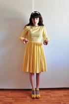50s vintage dress - Swedish Hasbeens clogs