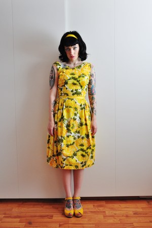 60s cotton vintage dress