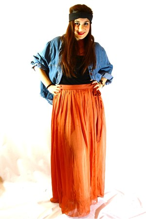 carrot orange Bimba&Lola skirt