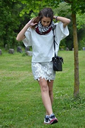 Zara skirt - New Balance sneakers