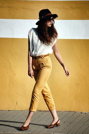 Primark pants - vintage shoes - Forever 21 hat - Forever 21 blouse