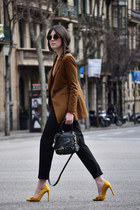 Bimba & Lola blazer - see by chloé bag - Zara pants - Zara heels - obey top