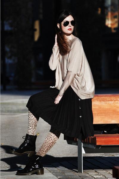 patent leather Dr Martens boots - suiteblanco tights - westrags jumper