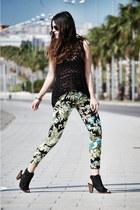 Zara pants - crochet Zara top - H by Hudson heels