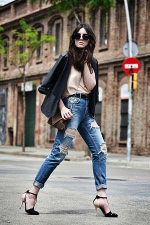 Zara jeans - PERSUNMALL jacket - Miu Miu sunglasses - Zara heels