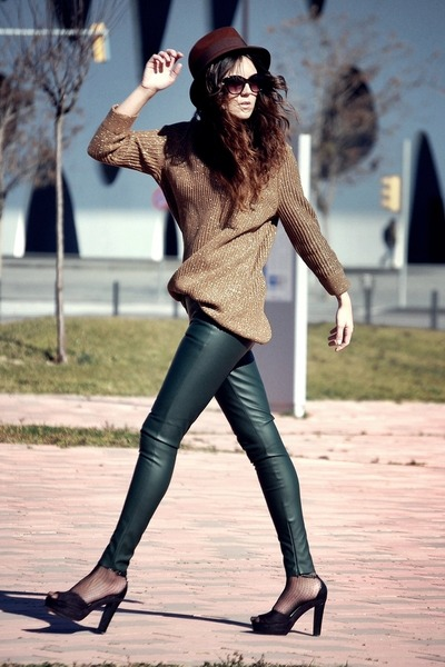 Zara pants - Zara hat - H&M heels - Zara jumper