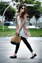 Zara bag - Sheinside coat - Zara pants - Miss Selfridge loafers - Zara t-shirt