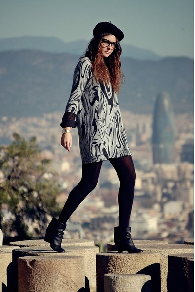 yuki dress - Zara boots - H&M hat