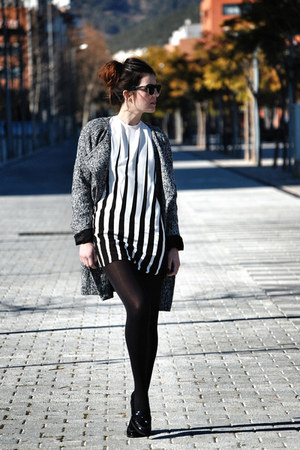 Motel Rocks dress - Vila coat - patent leather Miss Selfridge loafers