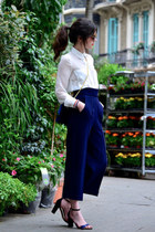 Zara bag - Mango shirt - Miu Miu sunglasses - Massimo Dutti heels - Zara pants