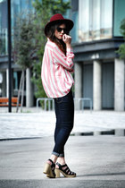 White and Soft Pink Stripes