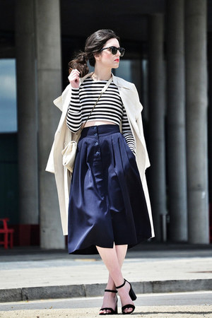 vintage skirt - Zara shoes - H&M coat - Zara top