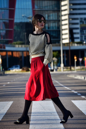pepa loves skirt - Zara shoes - Sheinside sweater