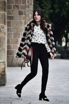suiteblanco coat - Zara shoes - American Apparel jeans - OASAP shirt