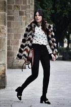 suiteblanco coat - Zara shoes - American Apparel jeans - OASAP shirt
