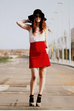 asos shoes - Zara skirt - Zara blouse