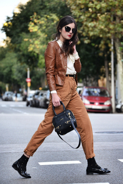 see by chloé bag - Miu Miu sunglasses - obey pants - Miss Selfridge loafers